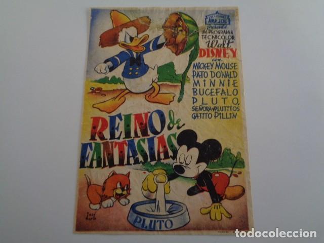 REINO DE FANTASIAS. EXCLUSIVAS ARAJOL. PROGRAMA SENCILLO. AÑOS 30. (Cine - Folletos de Mano - Infantil)