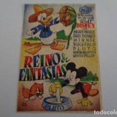 Cine: REINO DE FANTASIAS. EXCLUSIVAS ARAJOL. PROGRAMA SENCILLO. AÑOS 30.. Lote 195556996