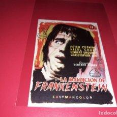 Cine: LA MALDICIÓN DE FRANKENSTEIN. PUBLICIDAD AL DORSO. AÑO 1957. Lote 195903095