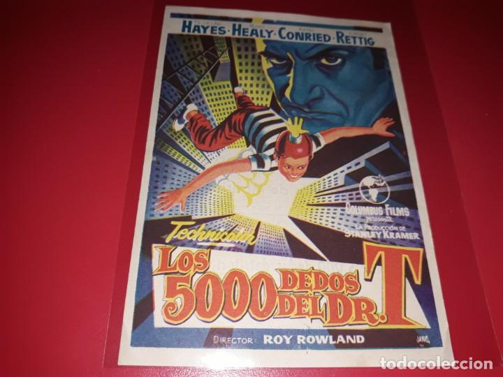 LOS 5000 DEDOS DEL DR. T. PUBLICIDAD AL DORSO. AÑO 1953 (Cine - Folletos de Mano - Infantil)