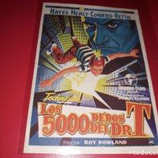 Cine: LOS 5000 DEDOS DEL DR. T. PUBLICIDAD AL DORSO. AÑO 1953. Lote 196112497