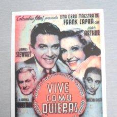 Cine: PROGRAMA DE CINE - VIVE COMO QUIERAS. Lote 210317803