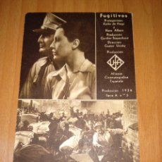 Cine: FUGITIVOS, 1934. CINE SAVOY A CORUÑA. Lote 196369921