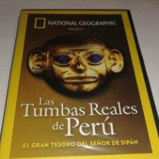 Flyers Publicitaires de films Anciens: NATIONAL GEOGRAPHIC, PRECINTADA, LAS TUMBAS REALES DEL PERU. Lote 196395590
