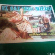 Cine: PROGRAMA DE CINE SIMPLE GRANDE. EL SALARIO DEL MIEDO. EMPRESA LAS ARENAS. CIRCUITO DE CINES DE SANS.. Lote 196601113