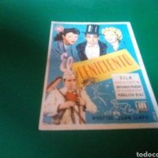 Cine: PROGRAMA DE CINE SIMPLE. EL CENICIENTO, POR GILA. CINE CONDAL. SALLENT. 1951. Lote 196604502