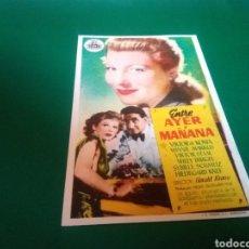 Cine: PROGRAMA DE CINE SIMPLE. ENTRE AYER Y MAÑANA. GRAN CINEMA VESA. EGAÑA. Lote 196606175