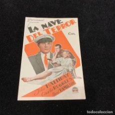 Cine: LA NAVE DEL TERROR - PROGRAMA DOBLE. Lote 196632168
