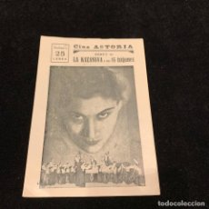 Cine: PASTO DE TIBURONES - LA KAZANOVA Y SUS 15 TZIGANES - PROGRAMA SENCILLO. Lote 196633302
