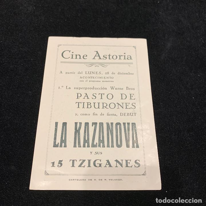 Cine: PASTO DE TIBURONES - LA KAZANOVA Y SUS 15 TZIGANES - PROGRAMA SENCILLO - Foto 2 - 196633302