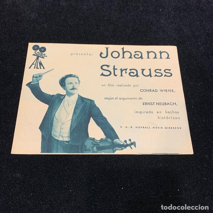 JOHANN STRAUSS - PROGRAMA DOBLE (Cine - Folletos de Mano - Musicales)