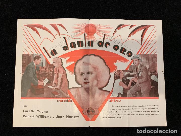 LA JAULA DE ORO - PROGRAMA SENCILLO (Cine - Folletos de Mano - Drama)