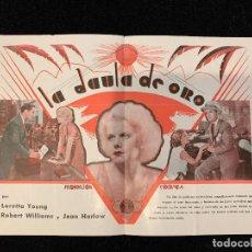 Cine: LA JAULA DE ORO - PROGRAMA SENCILLO. Lote 196645866