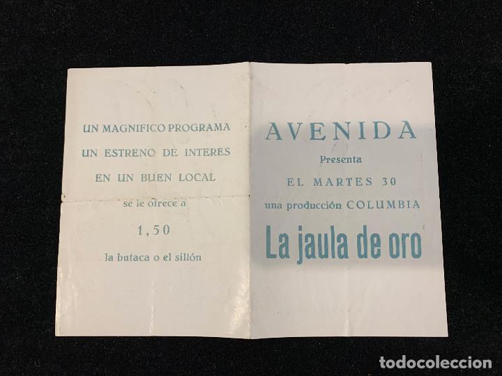 Cine: LA JAULA DE ORO - PROGRAMA SENCILLO - Foto 2 - 196645866