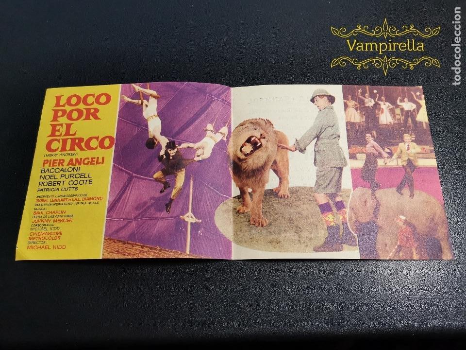 LOCO POR EL CIRCO--PROGRAMA PRINCIPAL CINEMA SARREAL TARRAGONA 1961 (Cine - Folletos de Mano - Clásico Español)