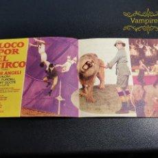 Cine: LOCO POR EL CIRCO--PROGRAMA PRINCIPAL CINEMA SARREAL TARRAGONA 1961. Lote 196646816