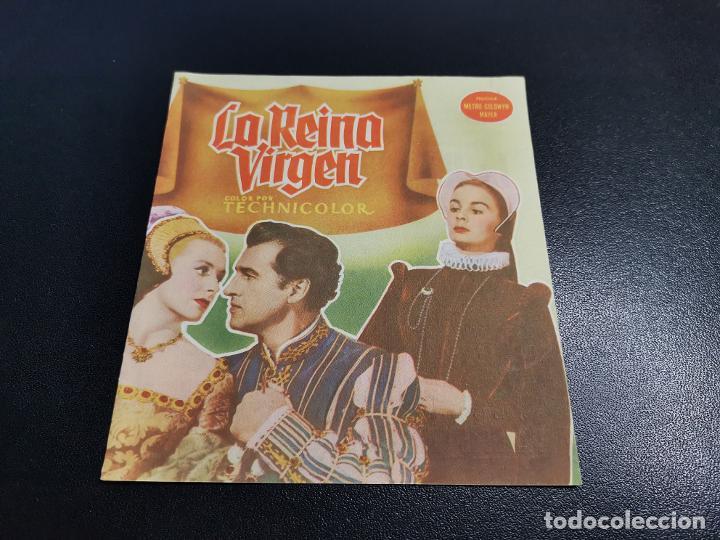 Cine: LA REINA VIRGEN--PROGRAMA PRINCIPAL CINEMA SARREAL TARRAGONA 1955 - Foto 2 - 196647242