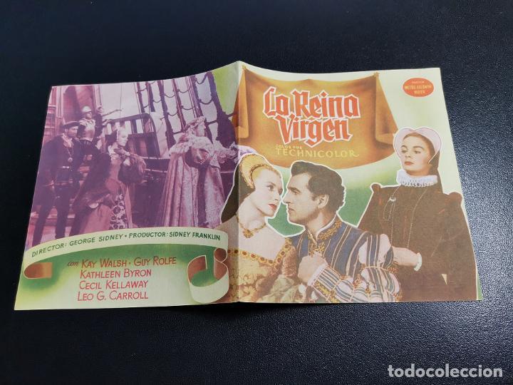 Cine: LA REINA VIRGEN--PROGRAMA PRINCIPAL CINEMA SARREAL TARRAGONA 1955 - Foto 4 - 196647242