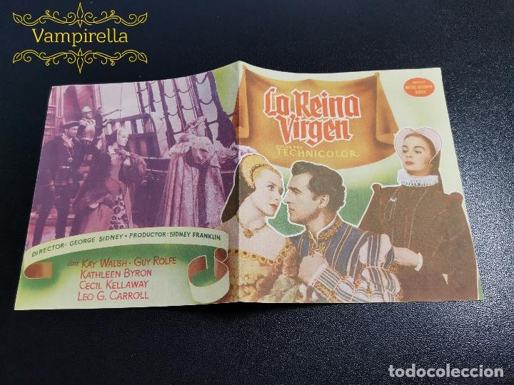 LA REINA VIRGEN--PROGRAMA PRINCIPAL CINEMA SARREAL TARRAGONA 1955 (Cine - Folletos de Mano - Clásico Español)
