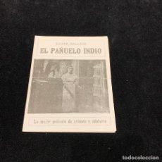 Cine: EL PAN?UELO INDIO - PROGRAMA DOBLE. Lote 196731311