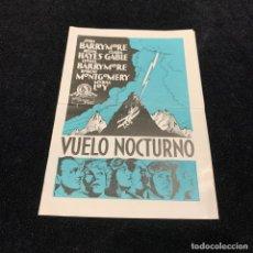 Cine: VUELO NOCTURNO - PROGRAMA DOBLE. Lote 196736230