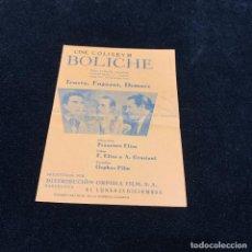 Cine: BOLICHE - PROGRAMA DOBLE. Lote 196736713