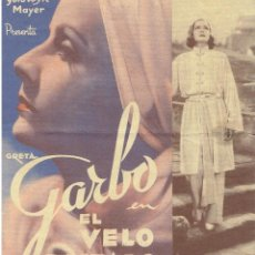 Cine: EL VELO PINTADO CON GRETA GARBO. Lote 196762260