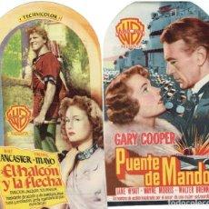 Cine: DOS TROQUELADOS : PUENTE DE MANDO Y EL HALCÓN Y LA FLECHA. Lote 196763055