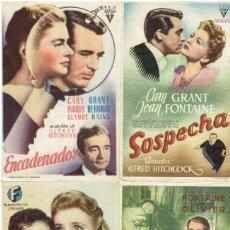 Cine: 4 PROGRAMAS HITCHCOCK ENCADENADOS, SOSPECHA, SABOTAJE Y REBECA. Lote 196792892