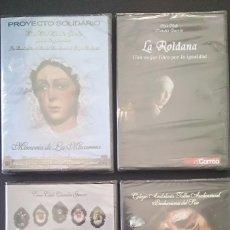 Flyers Publicitaires de films Anciens: 4 DVD SEMANA SANTA IMAGINERIA PROCESIONALES -PRECINTADOS. Lote 196865942