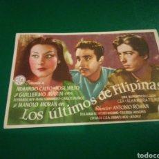 Cine: PROGRAMA DE CINE SIMPLE. LOS ÚLTIMOS DE FILIPINAS. CINE CÍRCULO DE MANRESA. Lote 196928338