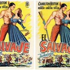 Cine: EL SALVAJE - DOS PROGRAMAS DISTINTOS. Lote 196952196