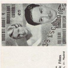 Cine: 39 ESCALONES DE HITCHCOCK. Lote 196958528