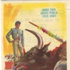 Cine: PROGRAMA DE CINE - TORO BRAVO - CURRO PUYA, RAFAEL PERALTA - CINE GOYA (MÁLAGA) - 1959.. Lote 196961387