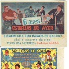 Cine: ESTRELLAS DEL AYER ( 2 PROGRAMAS ARAJOL). Lote 196966762