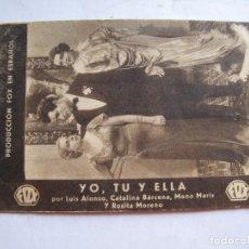 Cine: EX536 ------ PROGRAMA DE MANO ORIGINAL EL DE LA FOTO. Lote 197047917