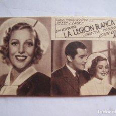 Cine: EX537 ------ PROGRAMA DE MANO ORIGINAL EL DE LA FOTO. Lote 197047953