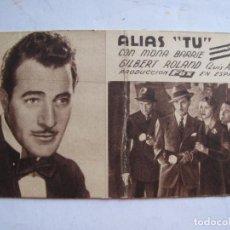 Cine: EX544 ------ PROGRAMA DE MANO ORIGINAL EL DE LA FOTO. Lote 197048248