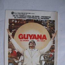Cine: EX556 ------ PROGRAMA DE MANO ORIGINAL EL DE LA FOTO. Lote 197048667