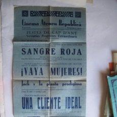 Cine: EX558 ------ PROGRAMA DE MANO ORIGINAL EL DE LA FOTO. Lote 197048736