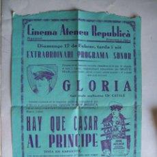 Cine: EX559 ------ PROGRAMA DE MANO ORIGINAL EL DE LA FOTO. Lote 197048797