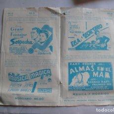 Cine: EX562 ------ PROGRAMA DE MANO ORIGINAL EL DE LA FOTO. Lote 197048928