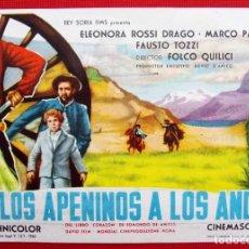 Cine: PROGRAMA. DE LOS APENINOS A LOS ANDES.. Lote 197052481