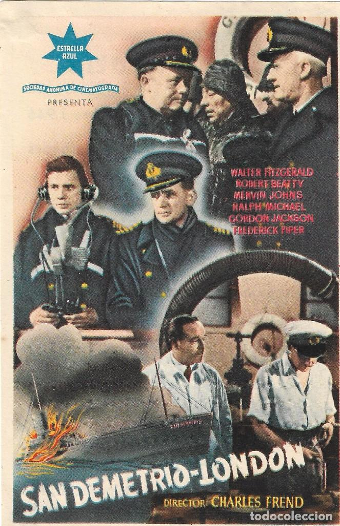 PROGRAMA DE CINE - SAN DEMETRIO LONDON - WALTER FITZGERALD, ROBERT BEATTY - CINE VICTORIA (MÁLAGA) (Cine - Folletos de Mano - Bélicas)