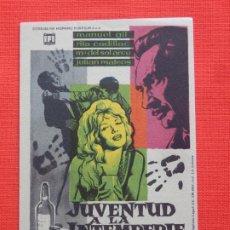 Cine: JUVENTUD A LA INTEMPERIE, SOLIGÓ, IMPECABLE, CON PUBLICIDAD CINE KURSAAL. Lote 197127541