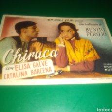 Cine: PROGRAMA DE CINE SIMPLE. CHIRUCA. Lote 197127718