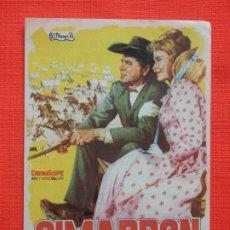 Cine: CIMARRON, SENCILLO, GLENN FORD, C/PUBLI CINE DOMENECH RUBÍ 1961. Lote 197128225