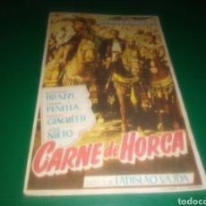 Cine: PROGRAMA DE CINE SIMPLE. CARNE DE HORCA. CINE AVENIDA DE FERROL. Lote 197130436