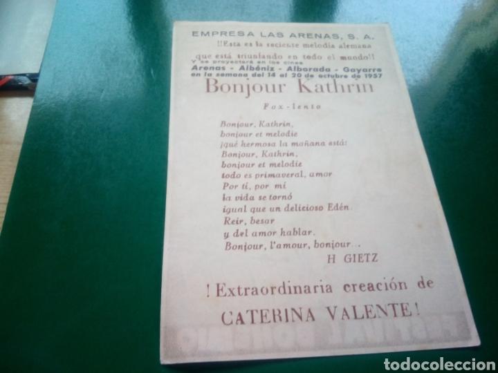 Cine: Programa de cine simple. Bonjour Kathrin. Empresa Las Arenas. Cines Albéniz, Alborada y Gayarre - Foto 2 - 197195180
