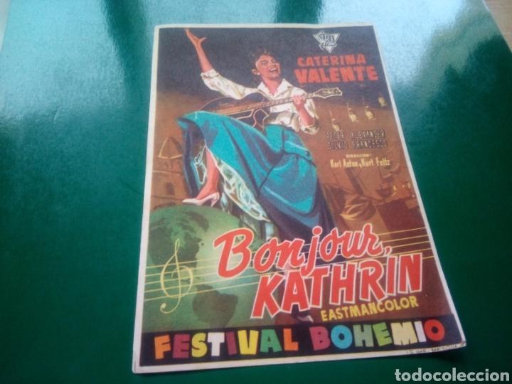 PROGRAMA DE CINE SIMPLE. BONJOUR KATHRIN. EMPRESA LAS ARENAS. CINES ALBÉNIZ, ALBORADA Y GAYARRE (Cine - Folletos de Mano - Musicales)